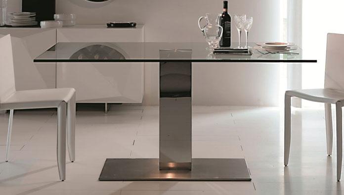 Cattelan italia tavolo fisso elvis big 160x90 tavolo - Tavoli in cristallo allungabili cattelan ...