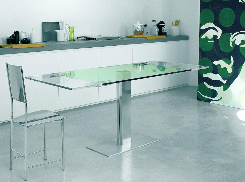Cattelan italia tavolo allungabile elvis drive 105 tavolo - Tavoli in cristallo allungabili cattelan ...