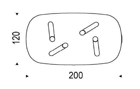 Cattelan Tavolo fisso Ray 200X120 - RAY_RET-200X120 - Tavolo
