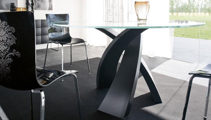 Tonin casa tavolo eliseo 8028 t 140 tavolo for Tavolo rotondo nero
