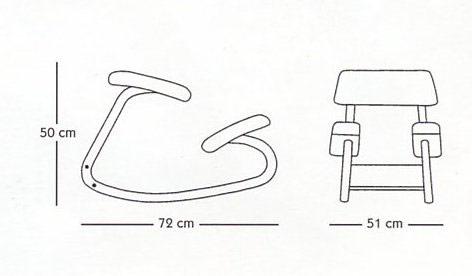 Varier variable balans step ergonomische stoelen - Dimensioni sedia ...